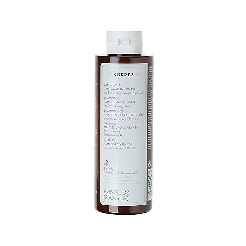 Korres Almond & Linseed Shampoofor Dry Damaged Hair,8.45 Fl. Oz. / 250 ml