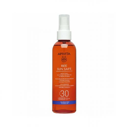 Apivita Bee Sun SafeSatin Touch Tan Perfecting Body Oil SPF30,200ml