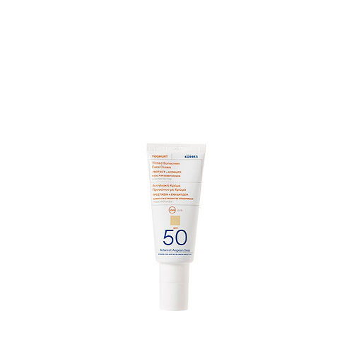 Korres Yoghurt Yogurt TINTED Sunscreen Face Cream SPF50, Sensitive Skin,40ml