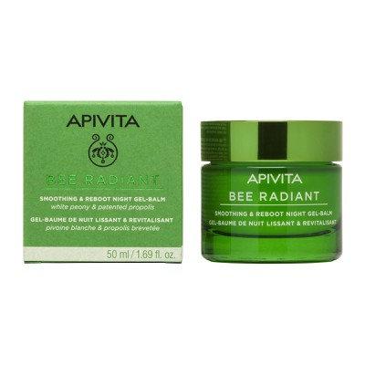 Apivita Bee Radiant Smoothing & Reboot Night Gel-Balm,with White Peony, 50ml