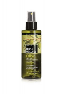 Mea Natura Dry Oil, Intense Hydration,w/ Organic Olive Oil,All Types,160ml