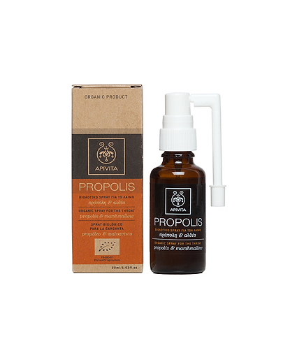 ApivitaOrganic Throat Spray with Propolis & Marshmallow,30ml