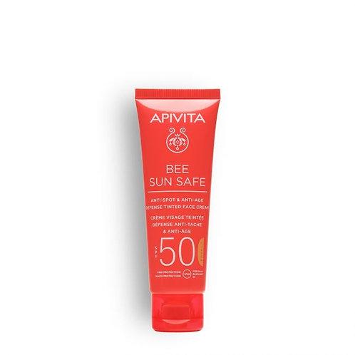 Apivita Bee Sun SafeAnti-Spot & Anti-Age Defense TINTED Face Cream SPF50,50ml
