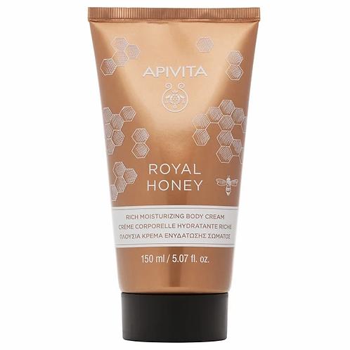 Apivita Royal Honey Rich Moisturizing Body Cream, Ideal for Dry Skin, 150ml