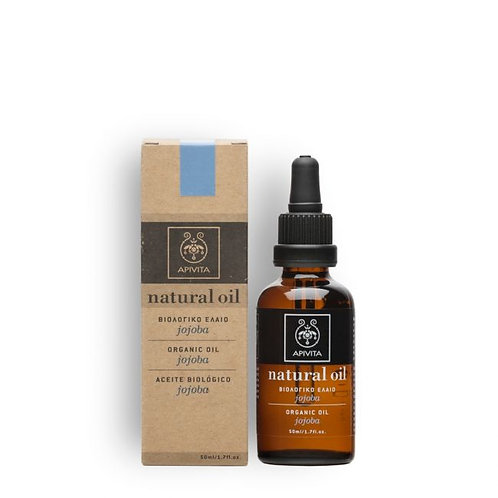 Apivita Natural Organic Jojoba Oil , 100% Natural Ingredients ,50ml