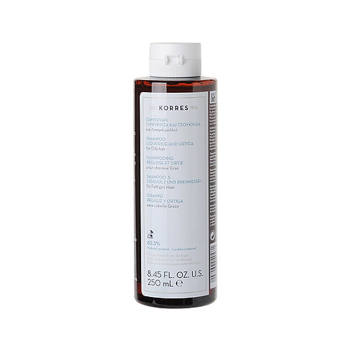 Korres Liquorice and Urtica Shampoo for Oily Hair, 8.45 Fl. Oz. / 250 ml