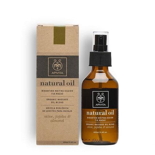 Apivita Natural Oil Organic Massage Oil Blend,Almond,Olive & Jojoba,100ml