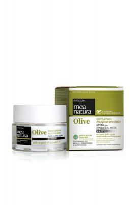 Mea Natura Greek Olive Moisturizing, Revitalizing 24-Hour Face Eyes Cream 50 ml