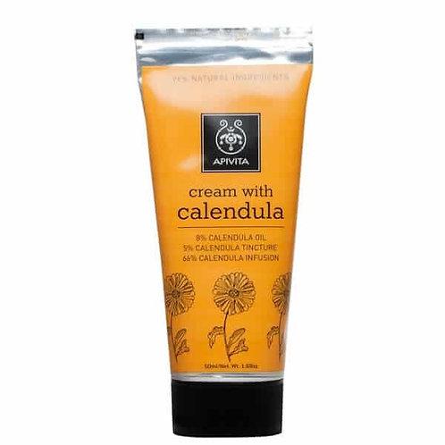Apivita Herbal Cream with Calendula, Hydrating and Soothing, 50ml