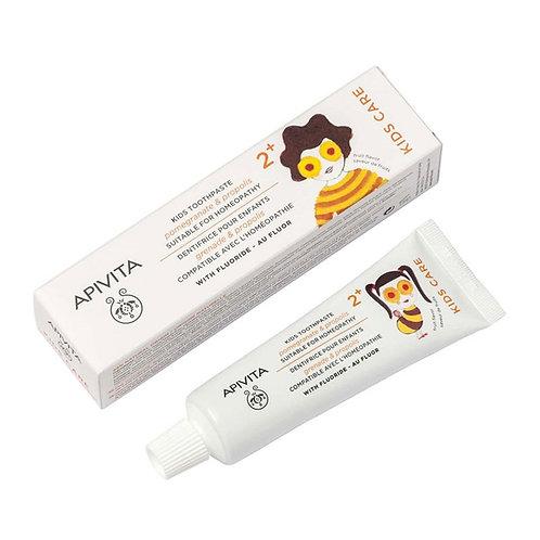 Apivita KIDS, 2+ Kids Toothpaste with Pomegranate & Propolis,50ml