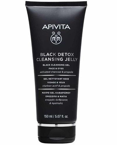 Apivita Black Detox Cleansing Jelly for Face & Eyes,150ml