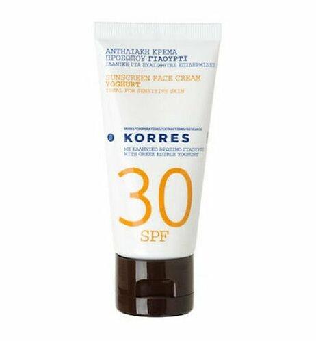 Korres SPF30 Yoghurt Sunscreen Face Cream, 50ml