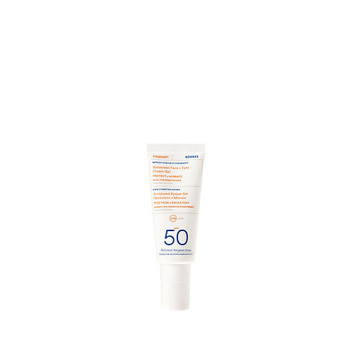 Korres Yoghurt Yogurt Sunscreen Face & Eyes Cream Gel SPF50,Sensitive Skin, 40ml