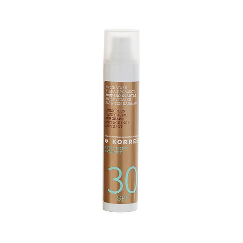 Korres Red Grape Sunscreen Face Cream SPF30 , Antiageing , Antispot , 50ml