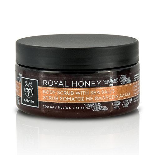 Apivita Royal Honey Body Scrub with Sea Salts & Honey, 250gr