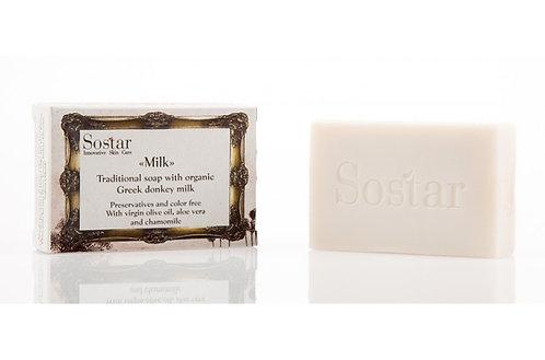Sostar Traditional Soap With Organic Greek Donkey Milk 100gr