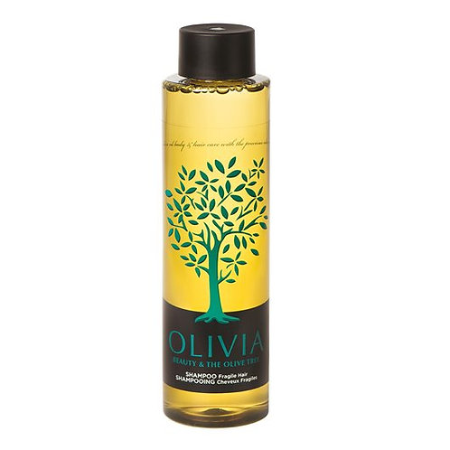 Olivia Papoutsanis Shampoo for Fragile Hair,Greek Olive Oil Pro-vitamin B5,300ml