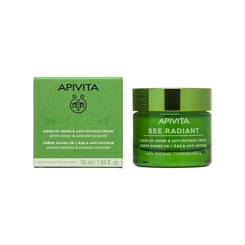Apivita Bee Radiant Signs of Aging & Anti-Fatigue Cream,Rich Texture,50ml