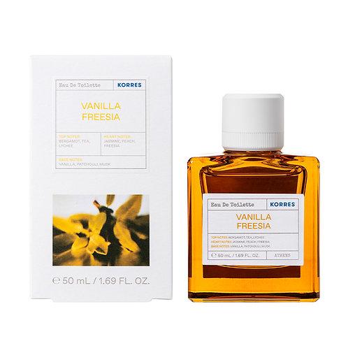 Korres Eau De Toilette,EDT,Fragrance Women,Vanilla,Freesia,50ml.