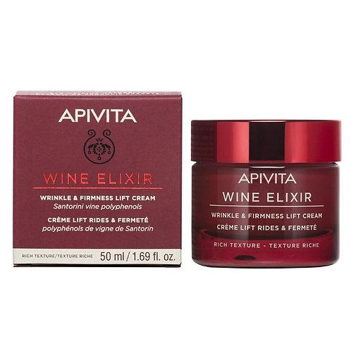 Apivita Wine Elixir Wrinkle & Firmness Lift Cream, Rich Texture, 50ml