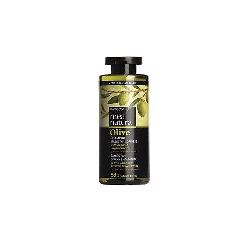 Mea Natura Olive Shampoo Strength & Softness with Organic Greek Olive Oil,300 ml