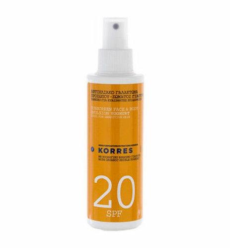 Korres SPF20 Yoghurt Sunscreen Face and Body Cream, 150ml (5.07oz)