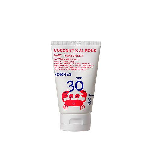 Korres Coconut & Almond Baby Sunscreen SPF30 100ml