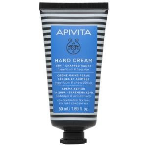 Apivita Hand Care Cream,Dry-Chapped Hands,Concentrated,Hypericum & Beeswax, 50ml