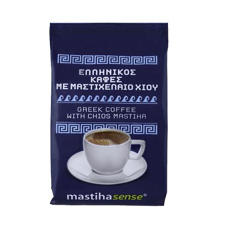 Greek Turkish Ground Coffee with Chios Mastiha Mastic Oil,100gr