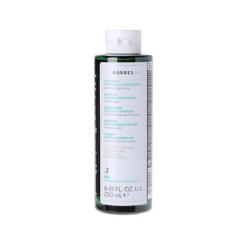 KorresHair Loss Men Shampoo with Cystine & Minerals, 8.45 Fl. Oz. / 250ml