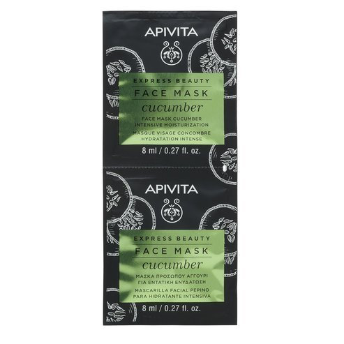 Apivita Express BeautyIntensive Moisturization Face Mask with Cucumber,2x8ml
