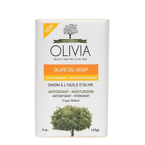 Olivia Papoutsanis Greek Olive Oil Soap with Lemon Verbena Extract 115gr