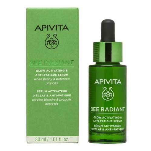 Apivita Bee Radiant Glow Activating & Anti-Fatigue Serum with White Peony, 30ml