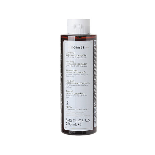 KorresShampoo Laurel & Echinacea for Dandruff & Dry Scalp, 8.45 Fl. Oz. / 250ml