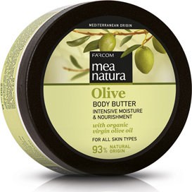Mea Natura Body Butter, Moisture & Nourishment, w/ Organic Greek Olive Oil,250ml