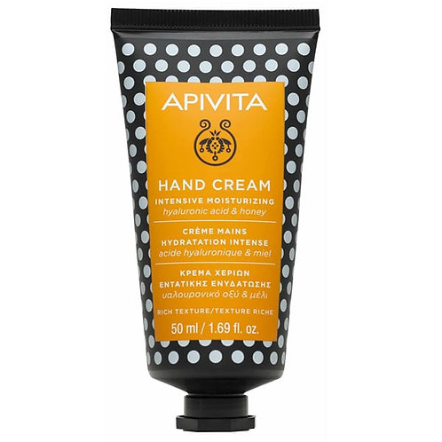 Apivita Moisturizing Hand Care Cream,Rich Texture,Hyaluronic Acid,Honey,50 ml