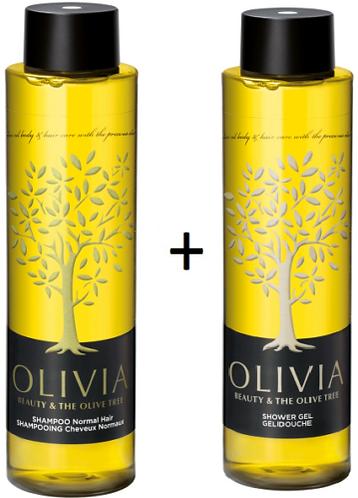 Olivia Papoutsanis,Shampoo Normal Hair 300ml + Shower Gel 300ml,Greek Olive Oil