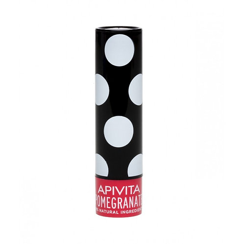 Apivita Propoline Lip Aid Care Balm,Pomegranate Shade