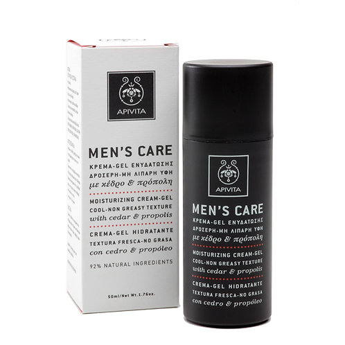 Apivita Men's Care Moisturizing Cream-Gel with Cedar & Propolis,50ml