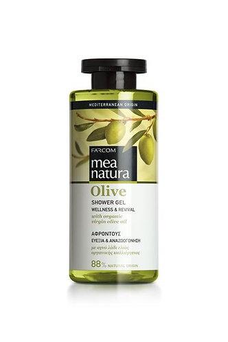 Mea Natura Greek Olive Oil Shower Gel,Wellness & Revival,All Skin Types,300 ml