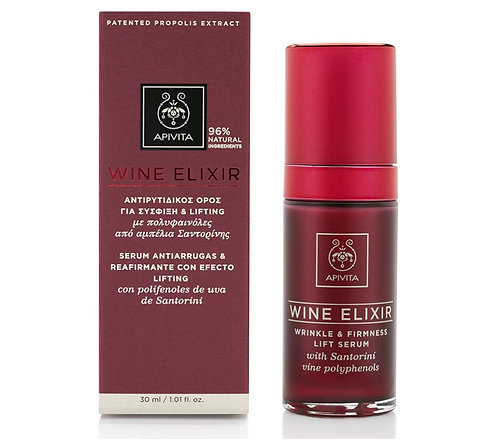 Apivita Wine Elixir Wrinkle Firmness Lift Serum,Santorini Vine Polyphenols,30ml