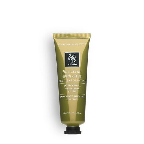 Apivita Deep Exfoliating Face Scrub with Olive, 50ml