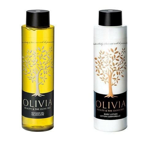 Olivia Papoutsanis Set, Body Lotion 300ml + Shower Gel 300ml w/ Greek Olive Oil