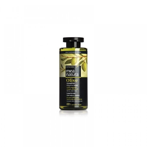 Mea Natura Olive Shampoo Vitality & Shine with Organic Greek Olive Oil,300 ml