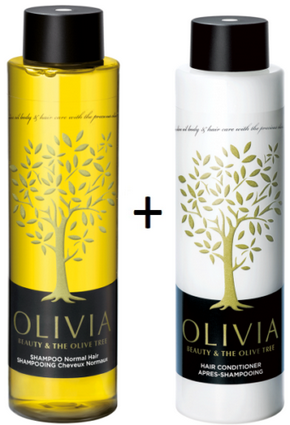 Olivia Papoutsanis,Shampoo Normal Hair 300ml + Conditioner 300ml,Greek Olive Oil