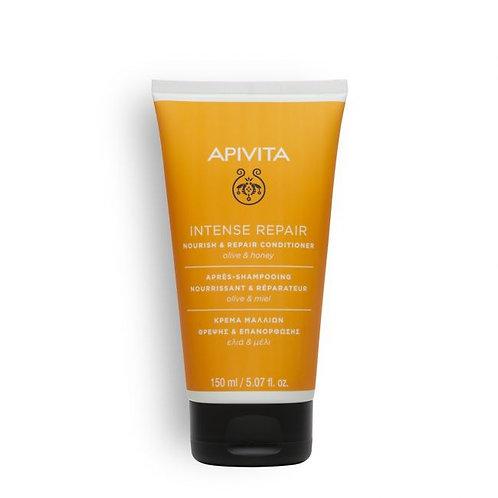 Apivita Nourish & Repair Conditioner for Dry-Damaged Hair, Olive & Honey, 150ml