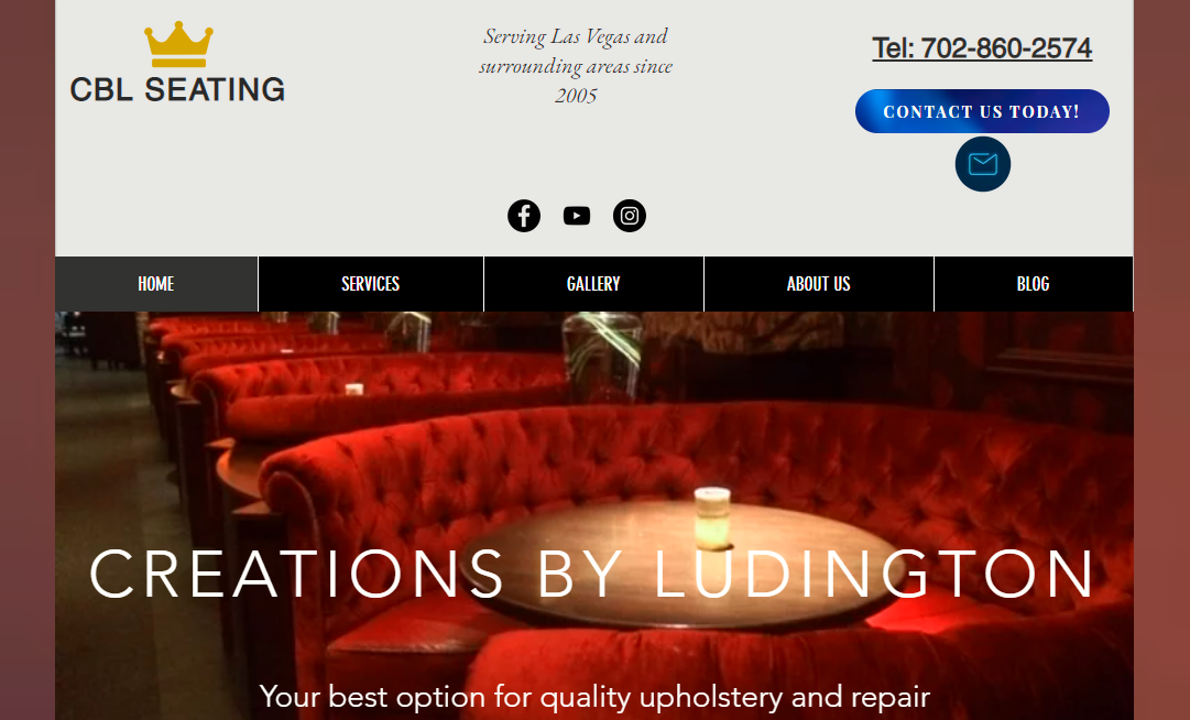 Upholstery Shop Website
