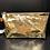 Thumbnail: Trousse make up  cuir - Métal Doré