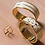Thumbnail: Bracelet Bollysud - Blanc Sable