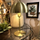 Thumbnail: Lampe métal doré petit champignon